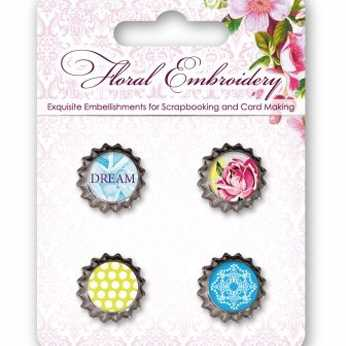 ScrapBerry´s Metal Cork Floral Embroidery