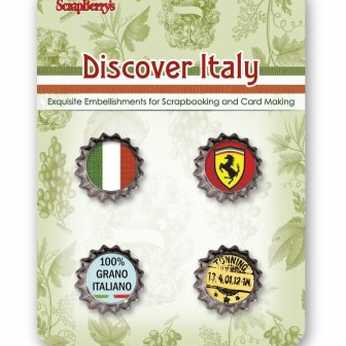 ScrapBerry´s Metal Cork Discover Italy