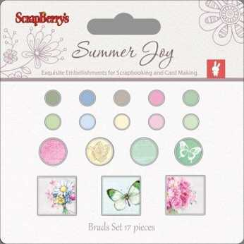 Scrapberry´s Set of Brads Summer Joy