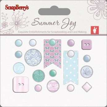 Scrapberry´s Set of Decorative Brads Summer Joy