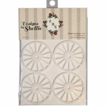 Designs by Shellie Acrylic Wagon Wheels frosted
