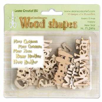 Leane Creatief Wood Shapes Merry X-Mas