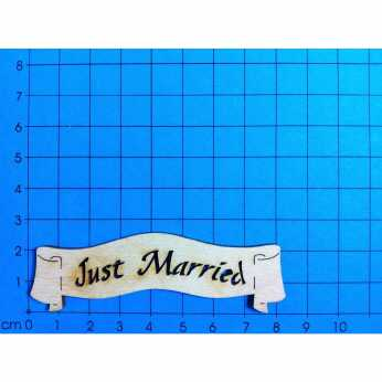 "Banner ""Just married"""