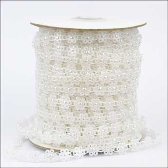 Pearl Strings Daisy String white
