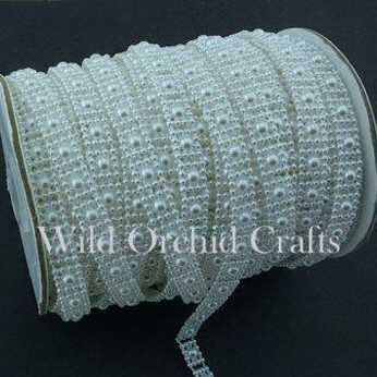 Flat Back White Pearl String