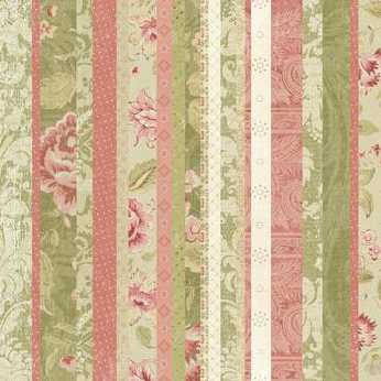 K&Company Striped Floral Damask Embossed Paper