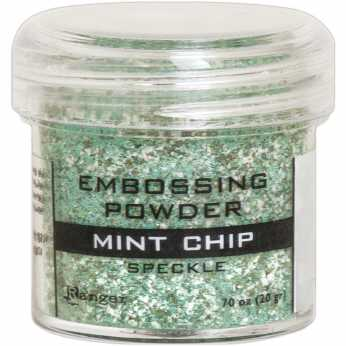 Ranger Embossing Powder Mint Chip Speckle