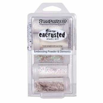 Stampendous encrusted jewel kit white