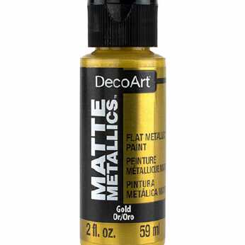 DecoArt Matte Metallics Gold