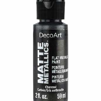 DecoArt Matte Metallics Charcoal
