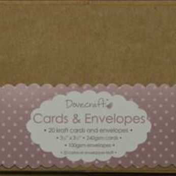 Dovecraft Mini Kraft Cards & Envelopes