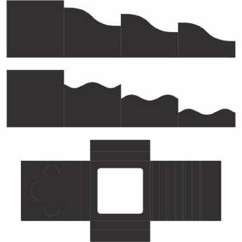 "Foldout Cards 6x6"" black"