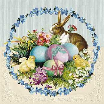 Servietten Easter Egg Wreath