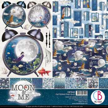 Ciao Bella Patterns Pad Moon & Me 12x12""