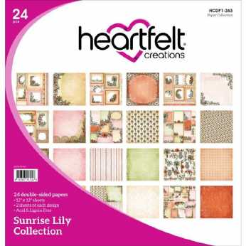 Heartfelt Creations Paper Pad Sunrise Lily