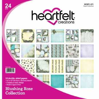 Heartfelt Creations Paper Pad Blushing Rose