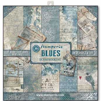 Stamperia Paper Pad Blues