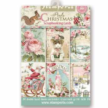 Stamperia Scrapbooking Cards Pink Christmas