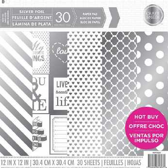 Craft Smith Silver Foil Paper Pad
