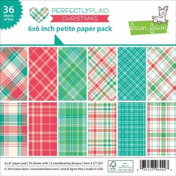 Lawn Fawn Paper Pad Perfectlyplaid Xmas 6 x 6""
