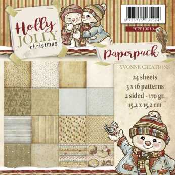 Yvonne Creations Paper Pad Holly Jolly