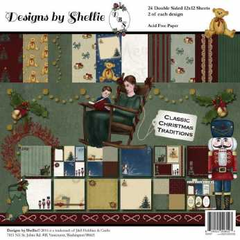 Designs by Shellie Paper Pad Classic Christmas