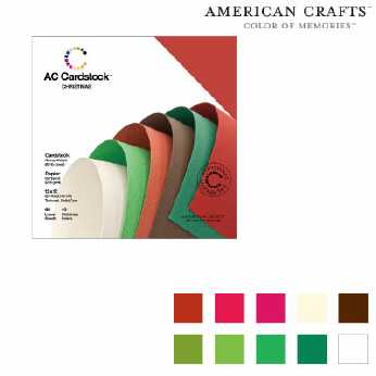American Crafts Cardstock Pack Christmas