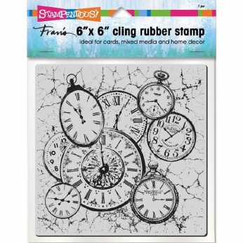 Stampendous Cling Clock Collage