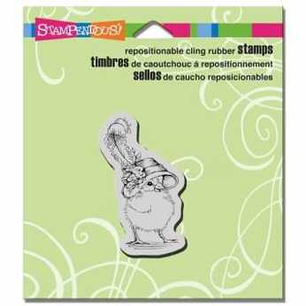 Stampendous Cling Posie Bonnet Baby