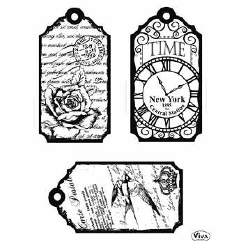 Clearstamps Tags Time