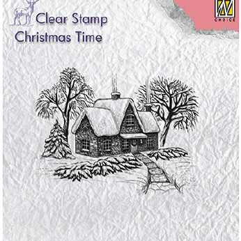 Nellie´s Choice Clearstamp Idyllic winter scene
