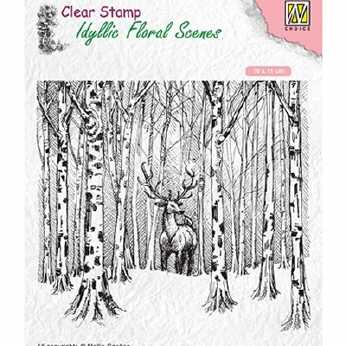Nellie´s Clearstamp Deer in forest
