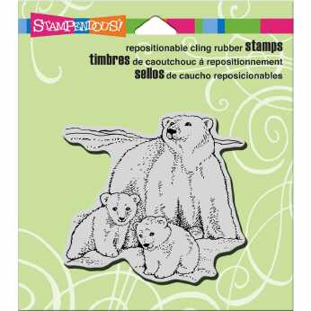 Stampendous Cling Polar Bear Play