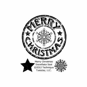 Clearstamp Merry Christmas Snowflake Seal
