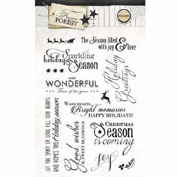 Studio Light Textstempel Frozen Forest