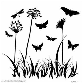 TCW Mini Template Butterfly Meadow