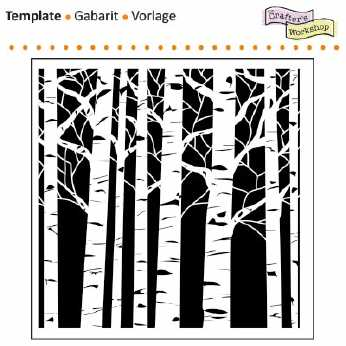 TCW Mini Templates Aspen Trees