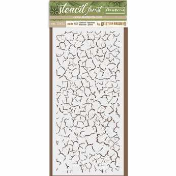 Stamperia Stencil Forest Crackle