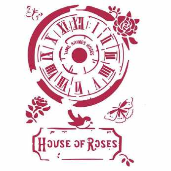 Stamperia Stencil A4 House of Roses