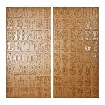 Tim Holtz Chipboard Letters alphas & numbers