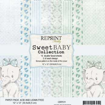 Reprint Paper Pack Sweet Baby Collection blue