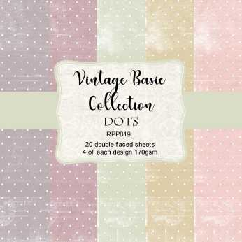 Reprint Paper Pack Dots Vintage Collection 6x6