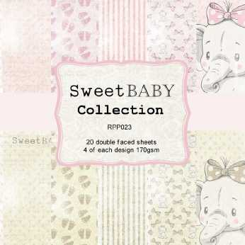 Reprint Paper Pack Sweet Baby Collection pink 6x6