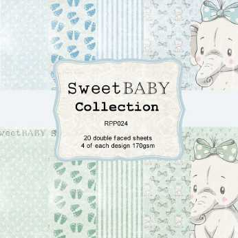 Reprint Paper Pack Sweet Baby Collection blue 6x6