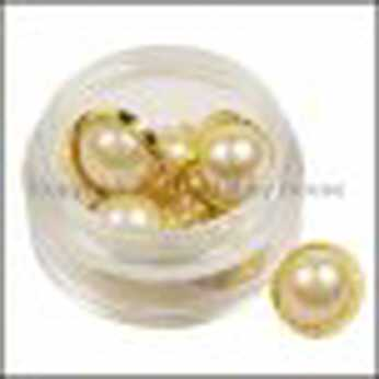 Fancy Buttons Gold Pearl