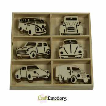 Holzornament Box Oldtimer