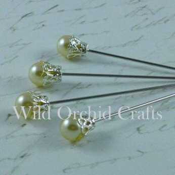 Ivory Crown Pins