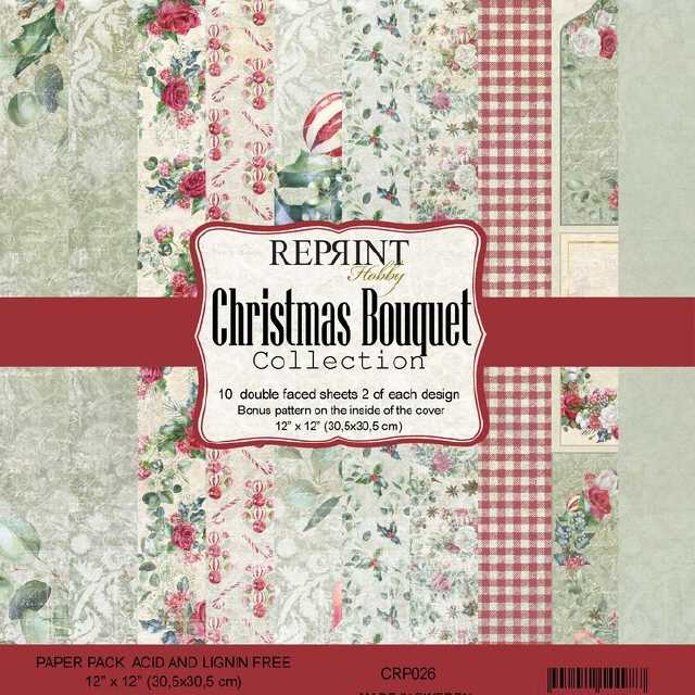 Reprint Paper Pack Christmas Bouquet 12x12""