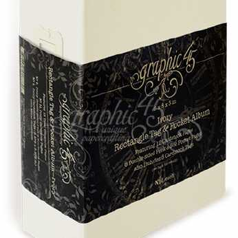 Graphic 45 Rectangle Tag & Pocket Album Ivory