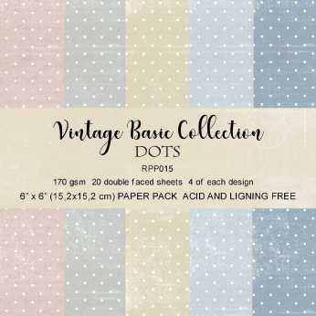 Reprint Paper Pack Dots 2 - Vintage Collection 6x6